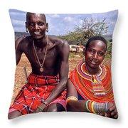 Samburu Couple Throw Pillow