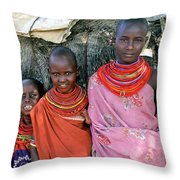 Samburu Sisters Throw Pillow