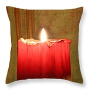 Same Candle New Color Throw Pillow