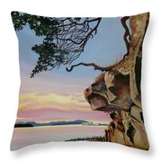 Same Time Same Place Throw Pillow