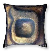 Samekh Blu Planet Throw Pillow