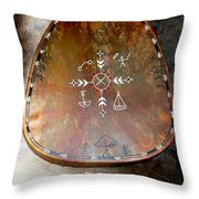 Sami Shaman Drum Throw Pillow