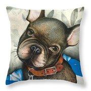 Sammy The French Bulldog Throw Pillow