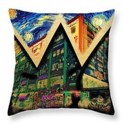 samoL Starry Night Throw Pillow
