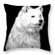 Samoyed Dog Throw Pillow