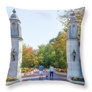 Sample Gates At University Of Indiana Throw Pillow
