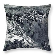 Samson Destroys The Philistines With An Ass Jawbone Throw Pillow