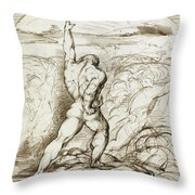 Samson Slaying The Philistines With The Jawbone Of An Ass Throw Pillow