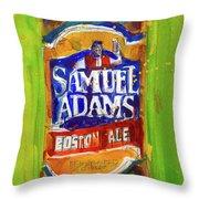 Samuel Adams Boston Ale Throw Pillow