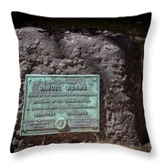 12- Samuel Adams Tombstone In Granary Burying Ground Eckfoto Boston Freedom Trail Throw Pillow