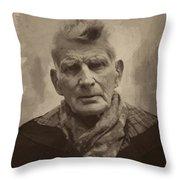 Samuel Beckett 2 Throw Pillow