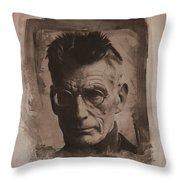 Samuel Beckett 01 Throw Pillow