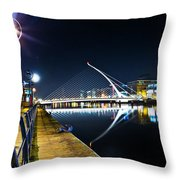 Samuel Beckett Bridge 2 Throw Pillow
