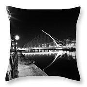 Samuel Beckett Bridge 2 Bw Throw Pillow