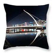 Samuel Beckett Bridge 3 V2 Throw Pillow