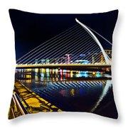 Samuel Beckett Bridge 5 Throw Pillow