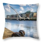 Samuel Beckett Bridge, Dublin, Ireland Throw Pillow