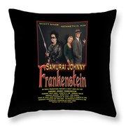 Samurai Johnny Frankenstein Throw Pillow by The Scott Shaw Poster Gallery