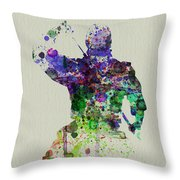 Samurai Throw Pillow by Naxart Studio