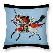 Samurai Rider Throw Pillow