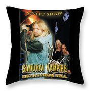 Samurai Vampire Bikers From Hell Throw Pillow