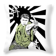 Samurai Warrior Throw Pillow