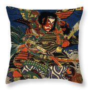 Samurai Warriors Battle 1819 Throw Pillow