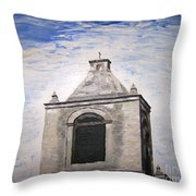 San Antonio Belltower Throw Pillow