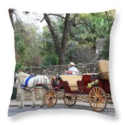 San Antonio Carriage Throw Pillow
