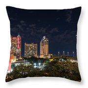San Antonio Cityscape At Night Throw Pillow