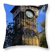 San Antonio Clock Throw Pillow