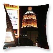 San Antonio Downtown Night Throw Pillow