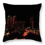 San Antonio Night Throw Pillow