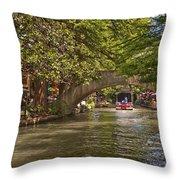 San Antonio Riverwalk Throw Pillow by Steven Sparks