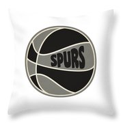 San Antonio Spurs Retro Shirt Throw Pillow