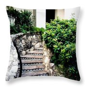 San Antonio Stairway Throw Pillow