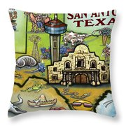 San Antonio Texas Throw Pillow