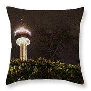 San Antonio Tower Of Americas Throw Pillow