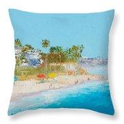 San Clemente Beach Throw Pillow