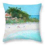 San Clemente Beach Panorama Throw Pillow