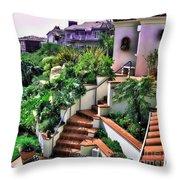 San Clemente Estate Backyard Throw Pillow