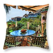 San Clemente Estate Patio Throw Pillow