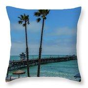 San Clemente Peir Throw Pillow
