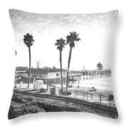 San Clemente Pier California Throw Pillow