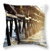 San Clemente Pier Magic Hour Throw Pillow