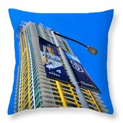 San Diego Apartment Tower Throw Pillow
