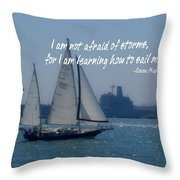 San Diego Bay Quote Throw Pillow by JAMART Photography
