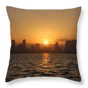 San Diego Bay Sunrise Throw Pillow