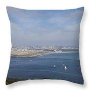 San Diego Bay Throw Pillow