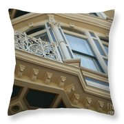 San Diego Blue Throw Pillow
